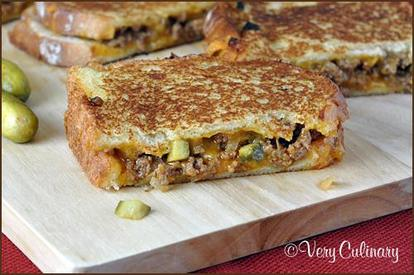 Dill Pickle Sloppy Joe Grilled Cheese!