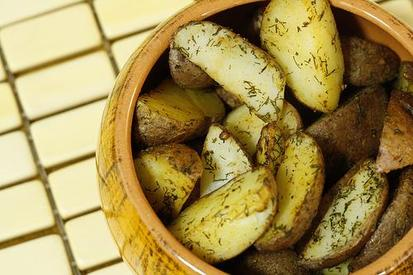 Roast Dill Pickle Potatoes!