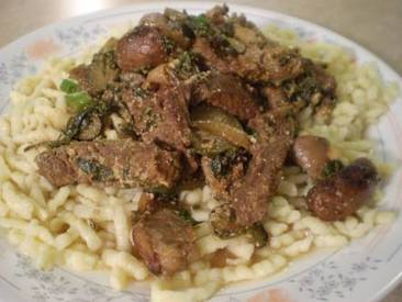 Beef Stroganoff With Pickles!