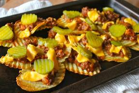 Sloppy Joe Pickle Nachos!