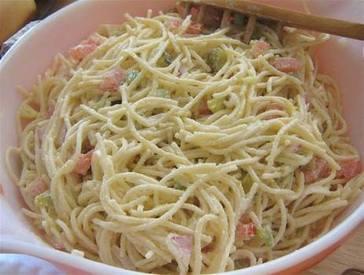 Pickle Spaghetti Salad!
