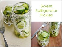 Sweet Refrigerator Pickles!