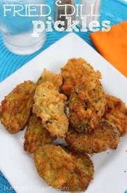 Cracker Crusted Fried Pickles!