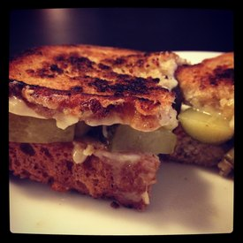 Grilled Cheese & Pickles!