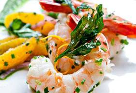 Pickled Shrimp With Parsley Oil!