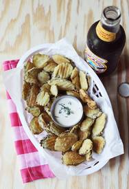 Fried Pickles & Spicy Dill Mayo!