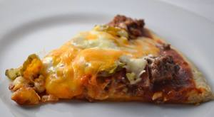 Bacon Cheeseburger Pickle Pizza!