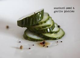 Mustard Seed & Garlic Pickles!