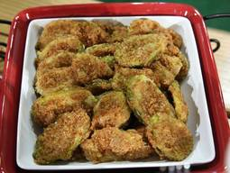 Pretzel Crusted Fried Pickles!