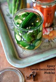 Spicy Lacto-fermented Pickles!