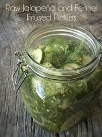 Raw Jalapeno & Fennel Infused Pickles!