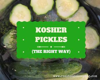 Easy No Vinegar Kosher Dill Pickles!