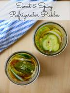 Sweet & Spicy Refrigerator Pickles!