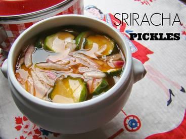 Overnight Sriracha Pickles!