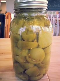 Sweet Green Tomato Pickles!
