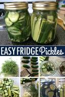 Easy Fridge Pickles!