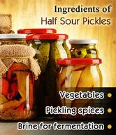 Easy Half Sour Pickles!