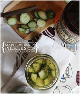 Maple Whiskey Pickles!