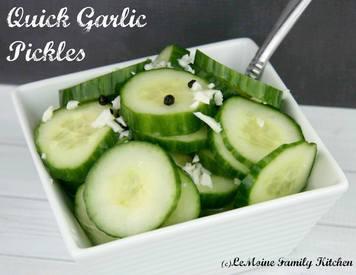 Quick Garlic Pickles!