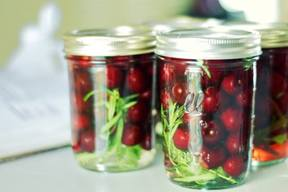 French Pickled Cherries!