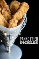Panko Deep Fried Pickles With Spicy Mayo!