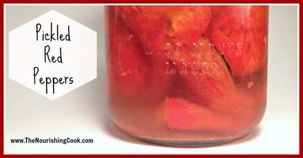 Pickled Red Peppers!