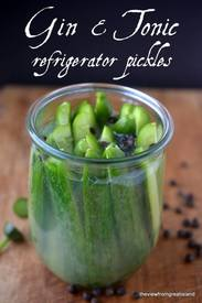 Gin & Tonic Refrigerator Pickles!