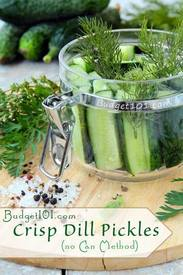 Overnight Crisp Dill Pickles!