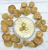 Cornmeal Fried Pickles!