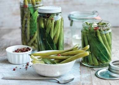 Pink Peppercorn Green Bean Pickles!
