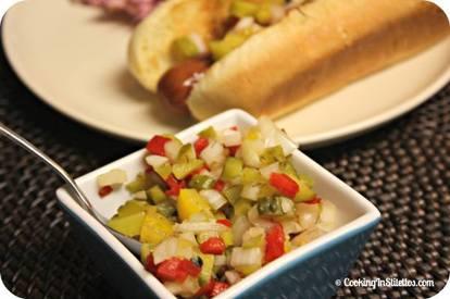 Homemade Hot Dog Relish!