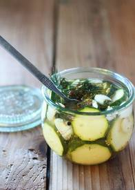 Spicy Zucchini Refrigerator Pickles!