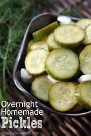 Overnight Homemade Pickles!