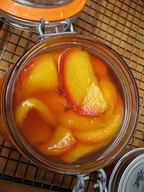 Simple Peach Pickles!