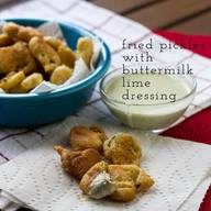 Fried Pickles & Buttermilk Lime Dressing!