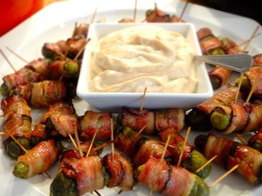 Bacon Wrapped Pickles With Cajun Mayo!