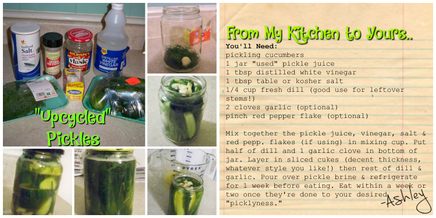 Upcycle Pickles!