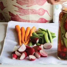 Sugar Snap Carrot & Radish Refrigerator Pickles!
