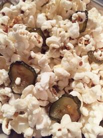 Homemade Pickle Popcorn!