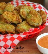 Fried Pickles With A Creole Dipping Sauce!