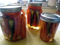 Spicy Pickled Carrots!