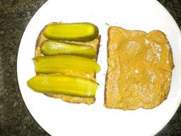 Peanut Butter & Pickles Sandwich!
