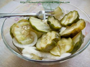 Freezer Cucumber Pickles!