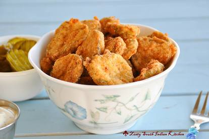 Cajun Spice Southern Fried Pickles!