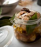 Pickled Mushrooms With Chili & Garlic!
