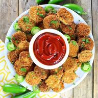 Fried Pickles W/ Sriracha Ketchup!