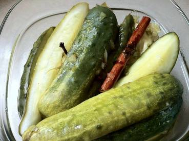Ginger Lime Pickles W/ Cinnamon Basil!