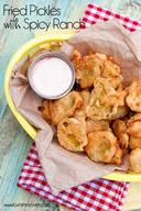 Fried Pickles With Spicy Ranch!