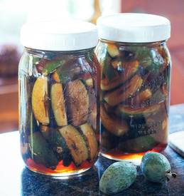 Salty Sweet Pickled Feijoas!