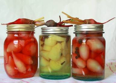 Pickled Candy Cane Beets!